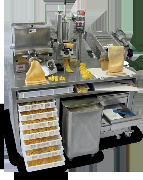 Combined fresh pasta machines